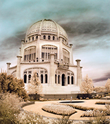 Photo of the Baha'i House of Worship in Wilmette, Illinois, USA.
