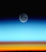 The moon photographed from low Earth orbit.