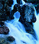 Icy blue rapids